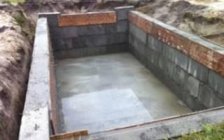 Фундамент для деревянного дома с подвалом