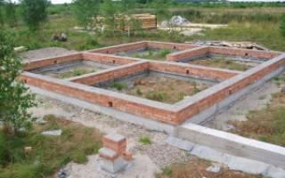 Фундамент для дома размеры