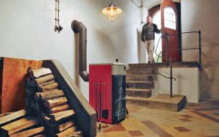 Отопление дома на участке без инженерных коммуникаций - твердотопливный котел