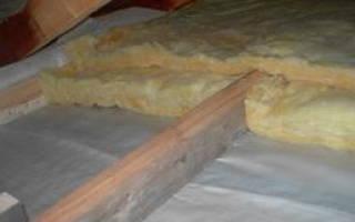 Утепление деревянного перекрытия