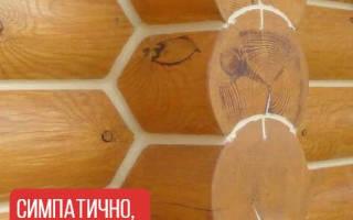 Утепление швов бревенчатого дома