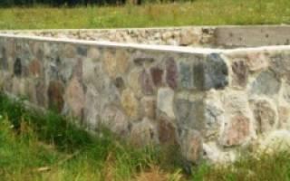 Фундамент из бутового камня своими руками